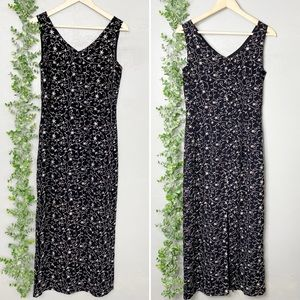 Vintage Laura Ashley floral embroidery maxi dress